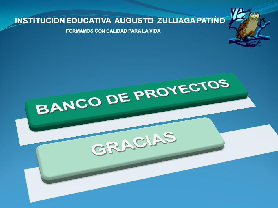 BANCO DE PROYECTOS GRACIAS