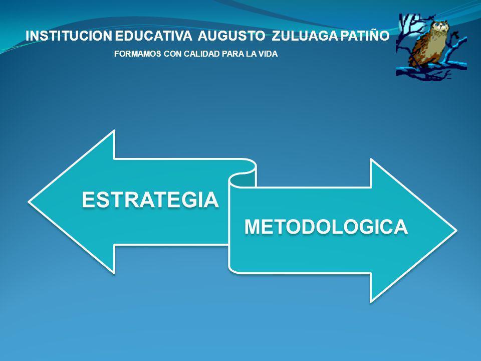 ESTRATEGIA INSTITUCION EDUCATIVA AUGUSTO ZULUAGA PATIÑO
