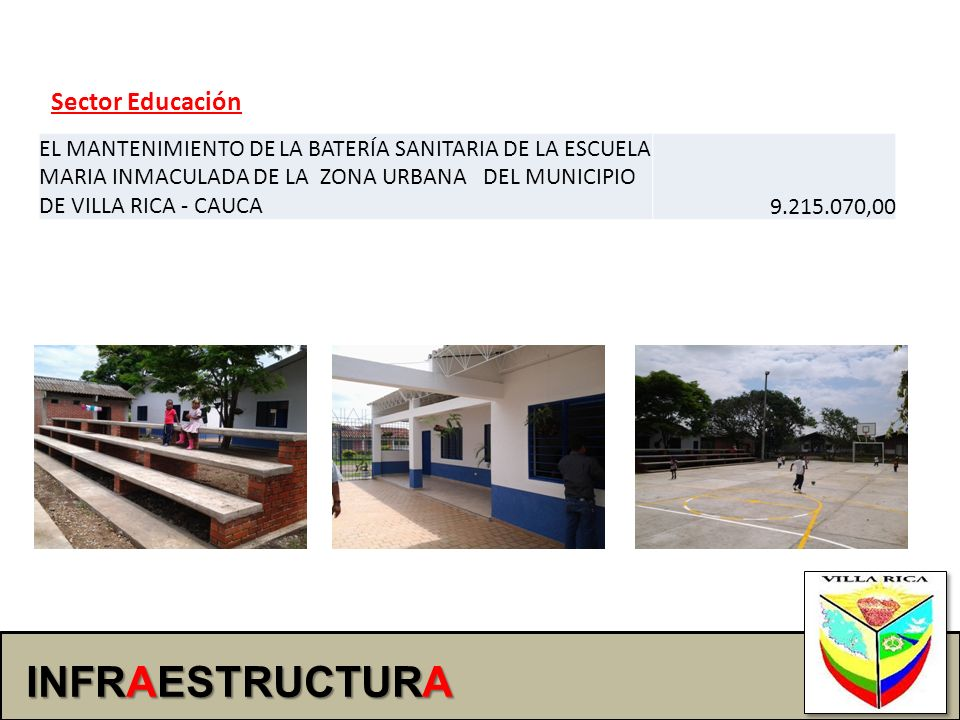 INFRAESTRUCTURA Sector Educación