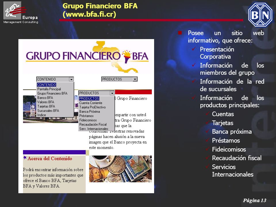 Grupo Financiero BFA (www.bfa.fi.cr)