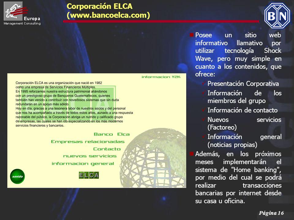Corporación ELCA (www.bancoelca.com)