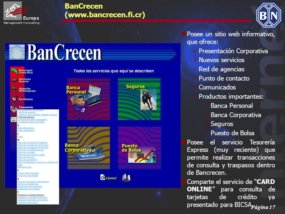 BanCrecen (www.bancrecen.fi.cr)