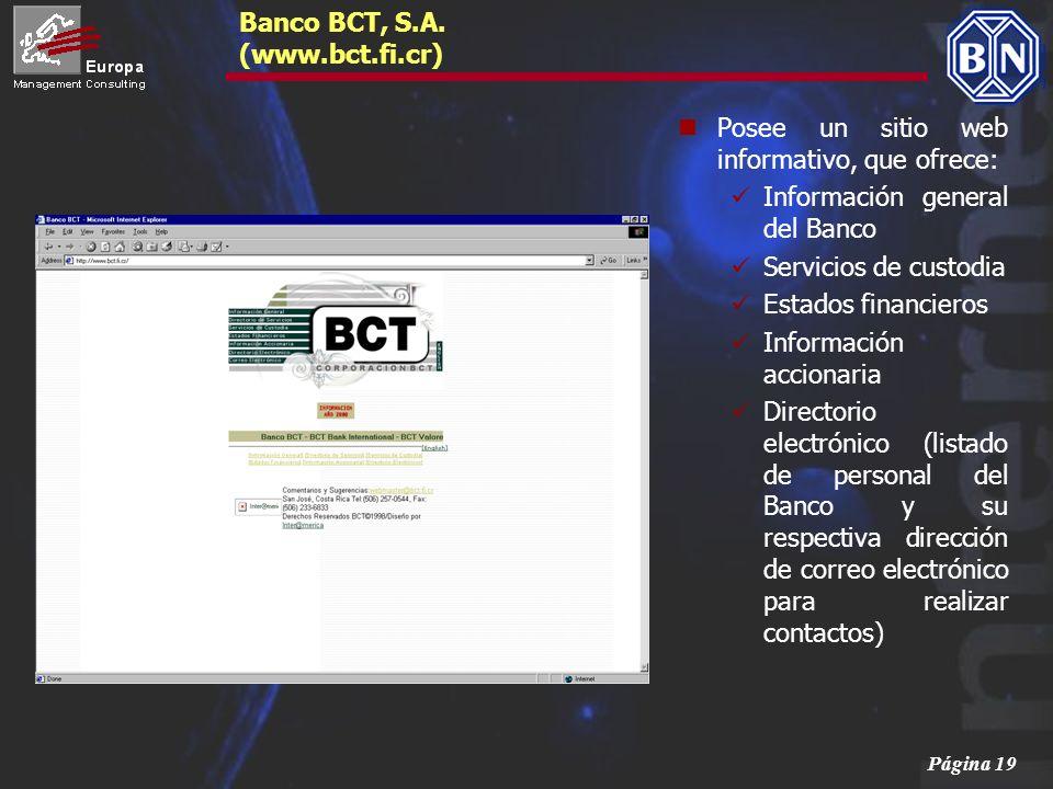 Banco BCT, S.A. (www.bct.fi.cr)