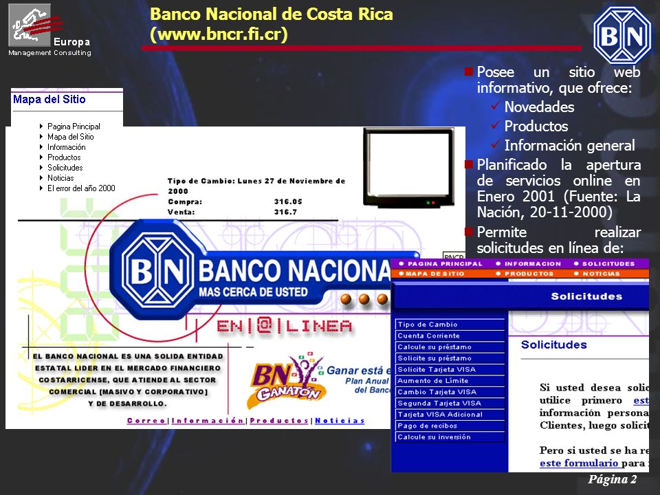 Banco Nacional de Costa Rica (www.bncr.fi.cr)