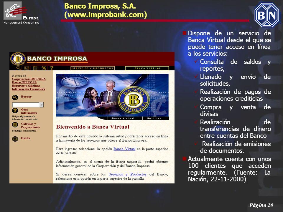 Banco Improsa, S.A. (www.improbank.com)