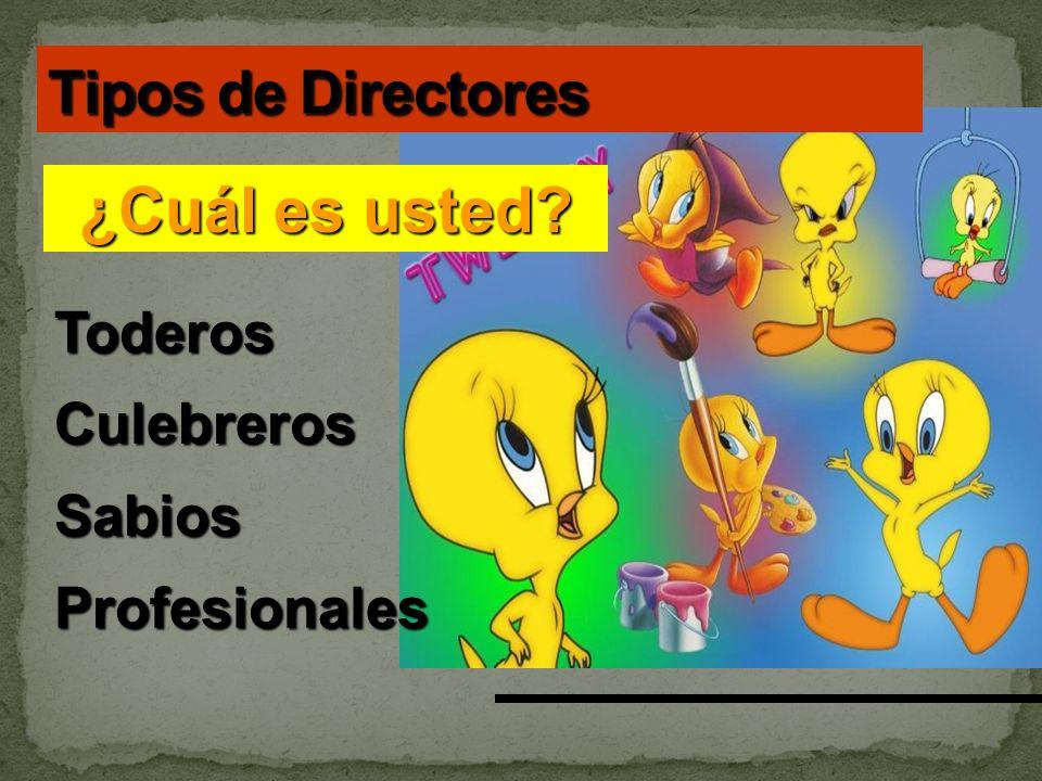 ¿Cuál es usted Tipos de Directores