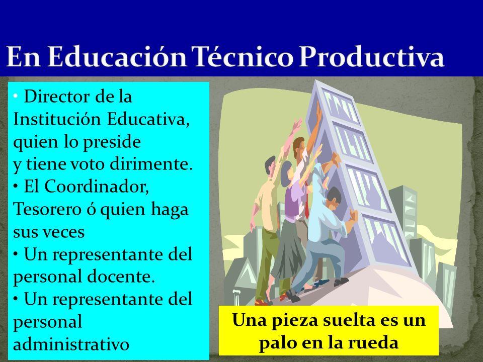 En Educación Técnico Productiva