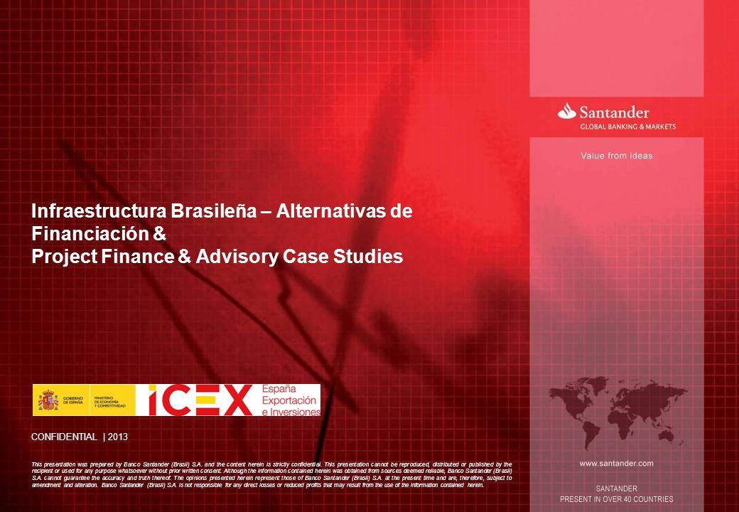 Infraestructura Brasileña – Alternativas de Financiación & Project Finance & Advisory Case Studies