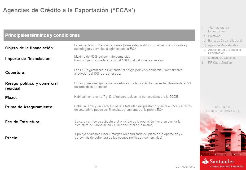 Agencias de Crédito a la Exportación ( ECAs')