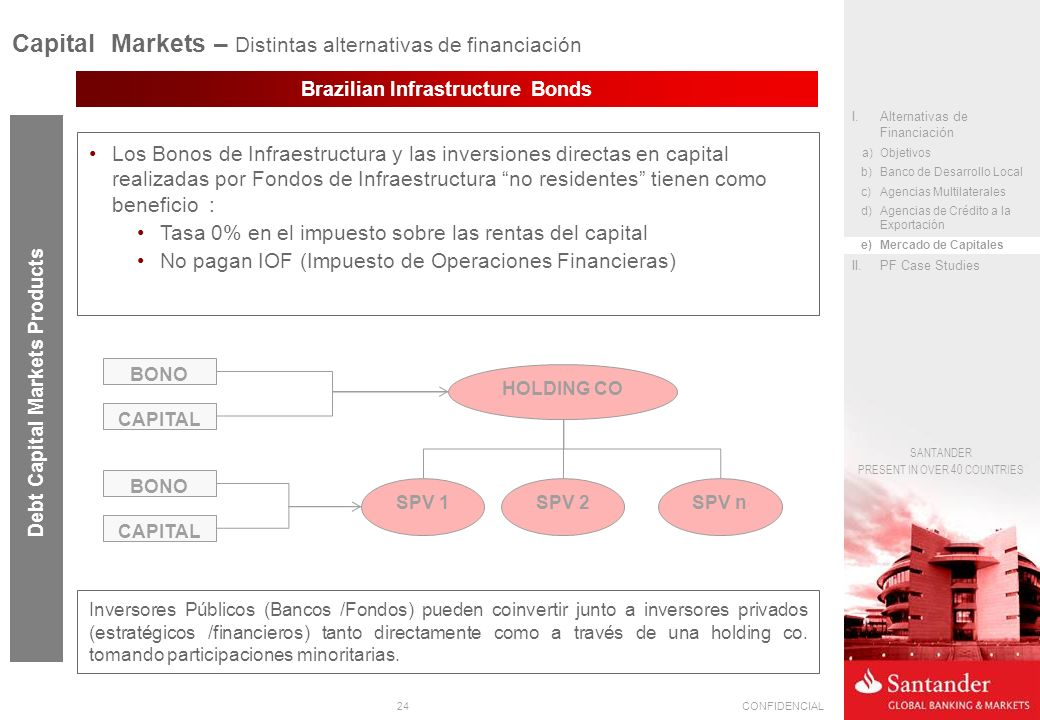 Capital Markets – Distintas alternativas de financiación