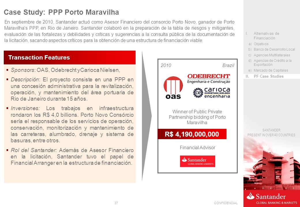 Winner of Public Private Partnership bidding of Porto Maravilha