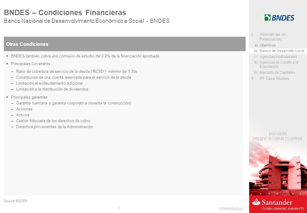 BNDES – Condiciones Financieras