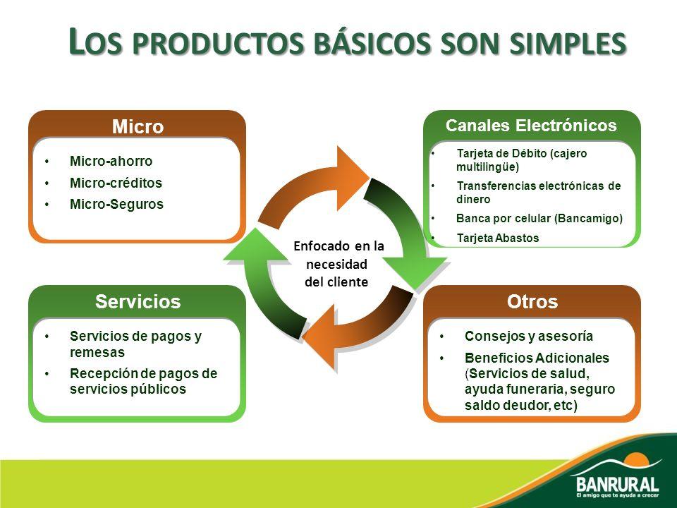 Los productos básicos son simples Enfocado en la necesidad