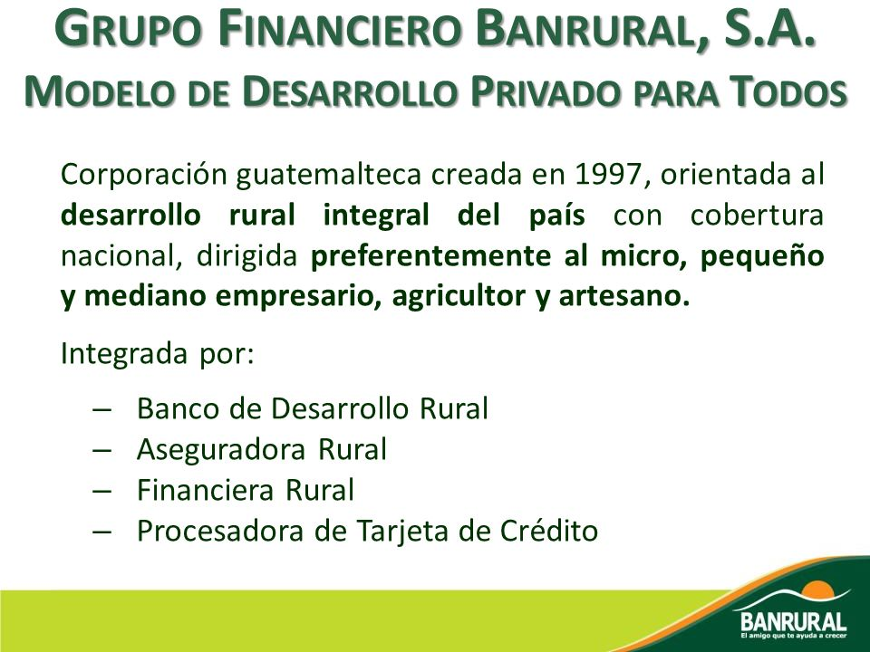 Grupo Financiero Banrural, S. A