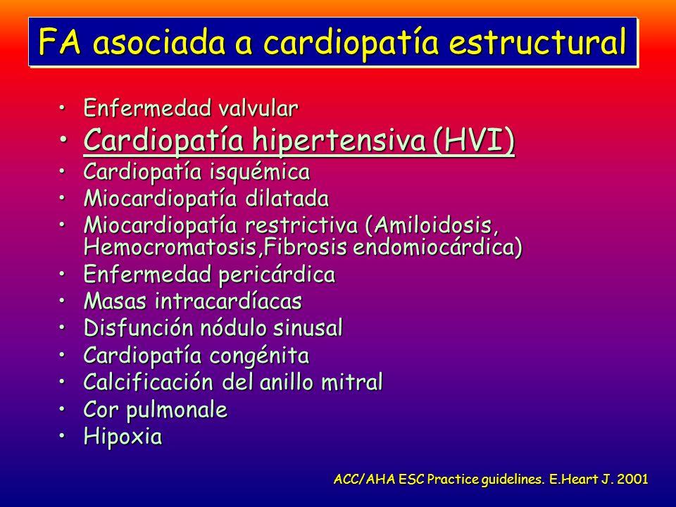 FA asociada a cardiopatía estructural