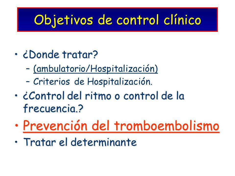 Objetivos de control clínico