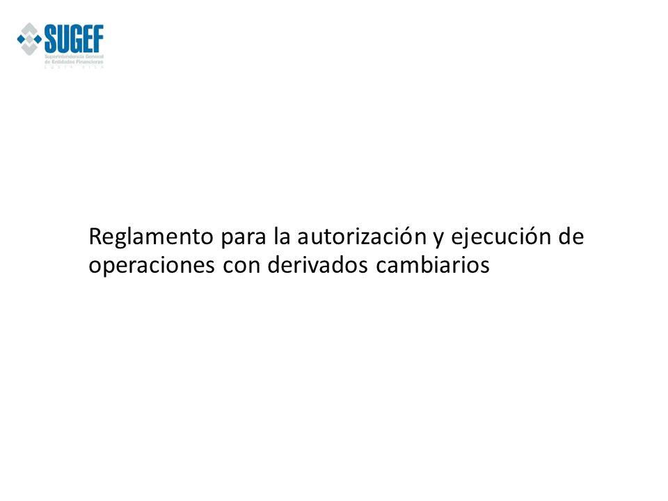 Reglamento para la autorización y ejecución de operaciones con derivados cambiarios