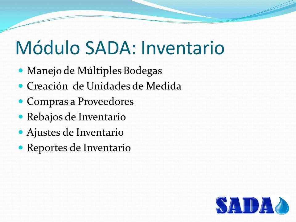 Módulo SADA: Inventario