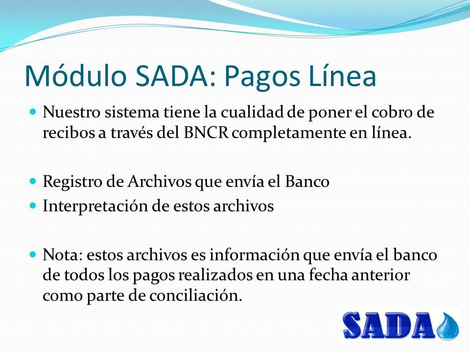 Módulo SADA: Pagos Línea