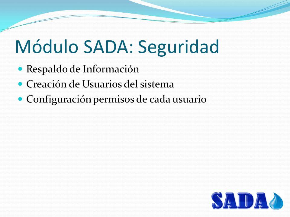 Módulo SADA: Seguridad