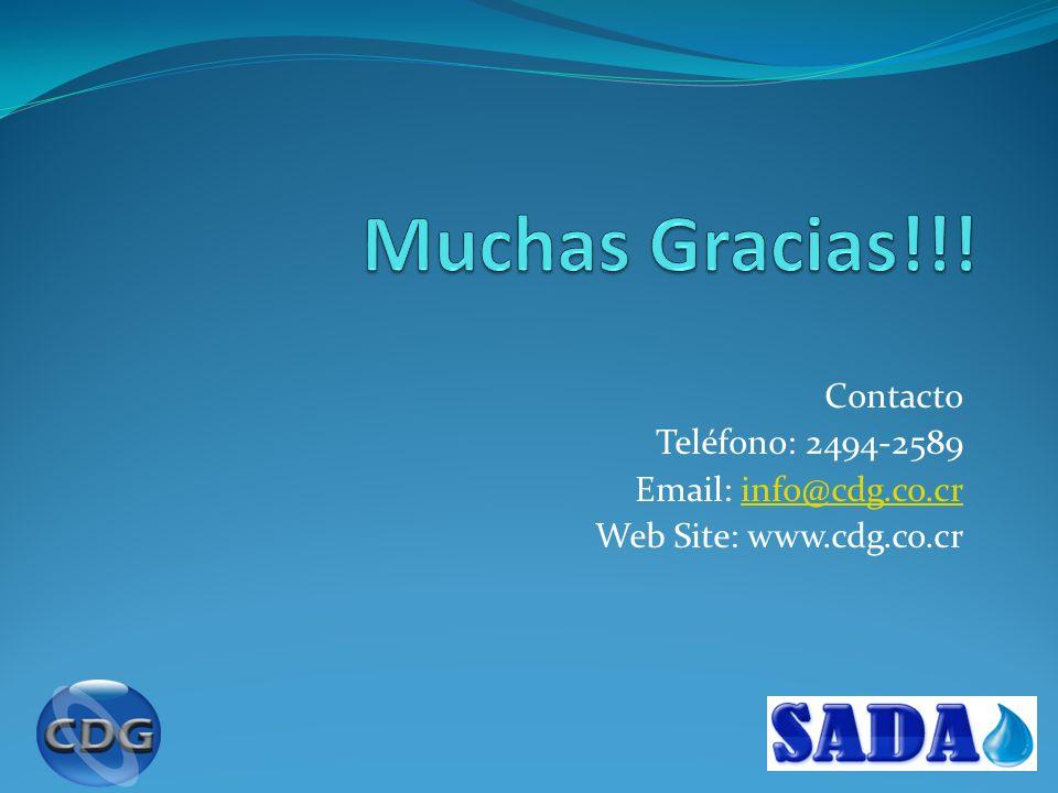 Muchas Gracias!!! Contacto Teléfono: 2494-2589