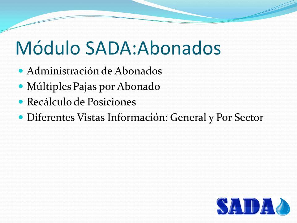 Módulo SADA:Abonados Administración de Abonados