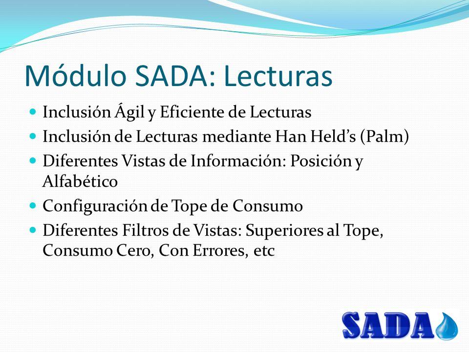 Módulo SADA: Lecturas Inclusión Ágil y Eficiente de Lecturas