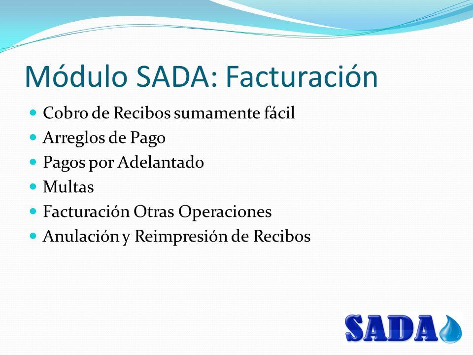 Módulo SADA: Facturación