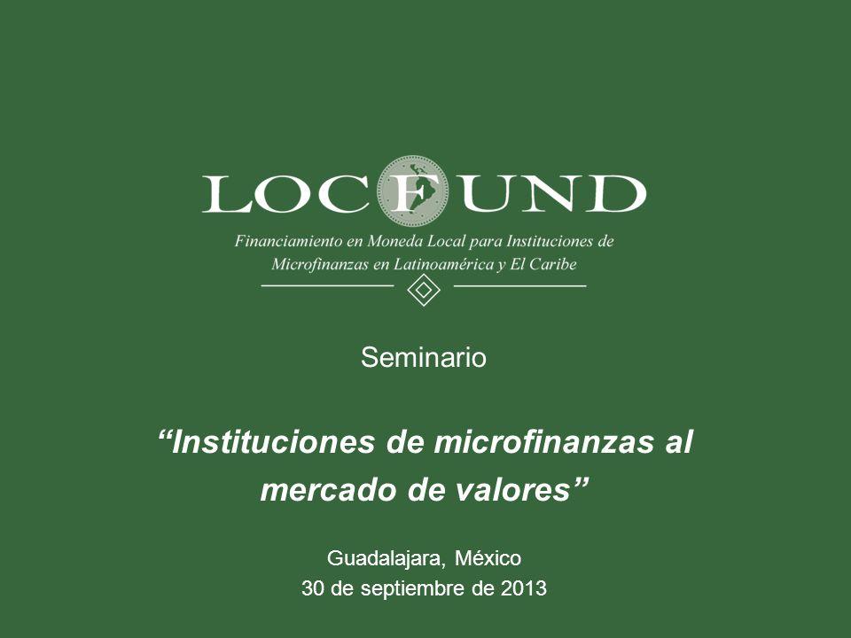Instituciones de microfinanzas al mercado de valores