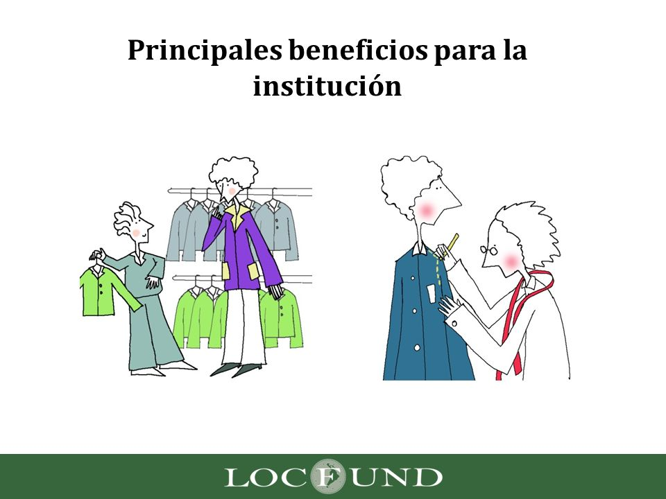 Principales beneficios para la institución