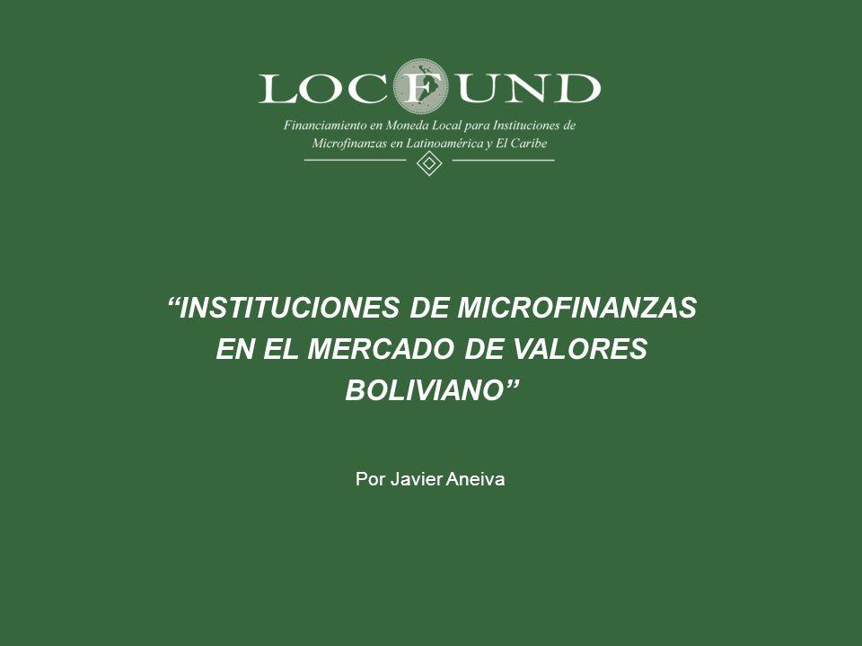 INSTITUCIONES DE MICROFINANZAS EN EL MERCADO DE VALORES