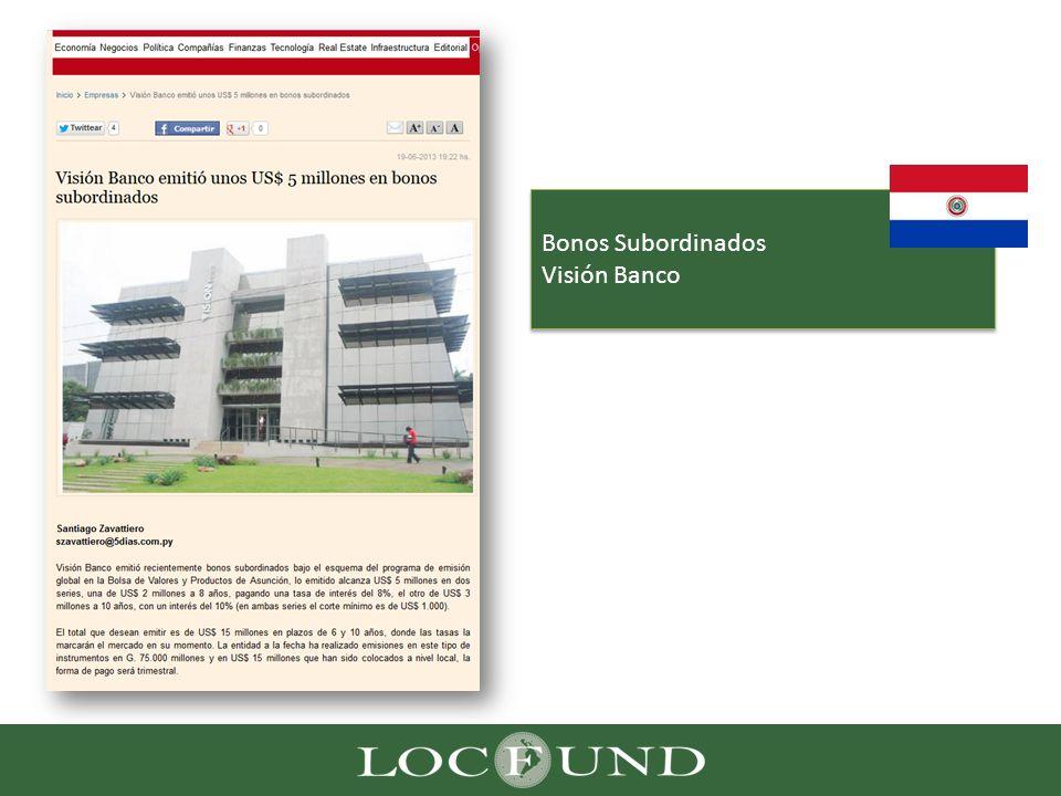 Bonos Subordinados Visión Banco
