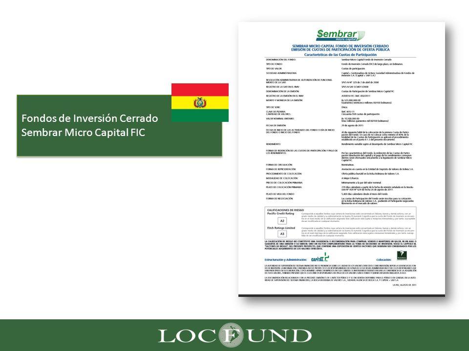 Fondos de Inversión Cerrado