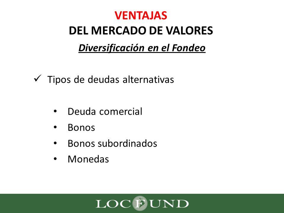 VENTAJAS DEL MERCADO DE VALORES
