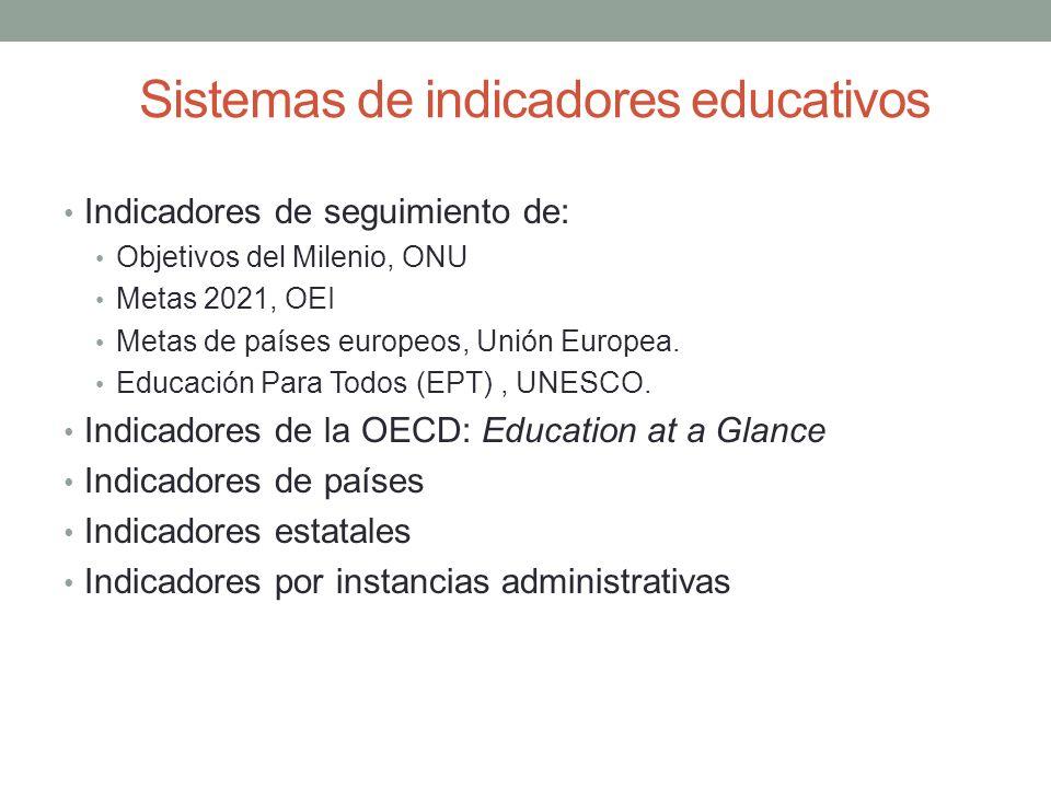 Sistemas de indicadores educativos
