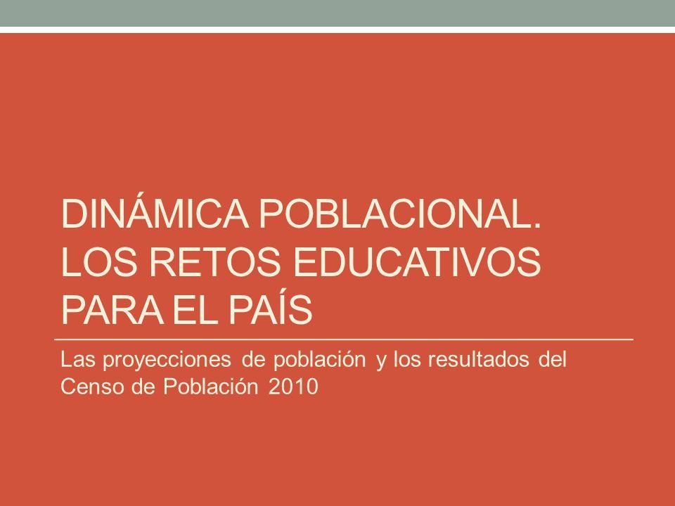 Dinámica poblacional. los retos educativos para el país