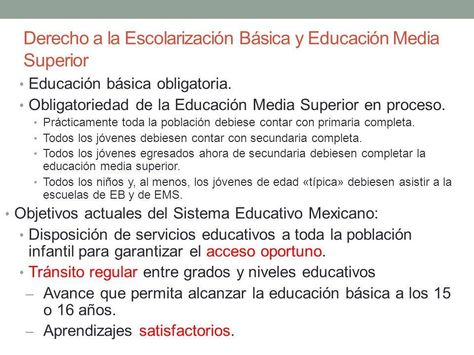 Derecho a la Escolarización Básica y Educación Media Superior