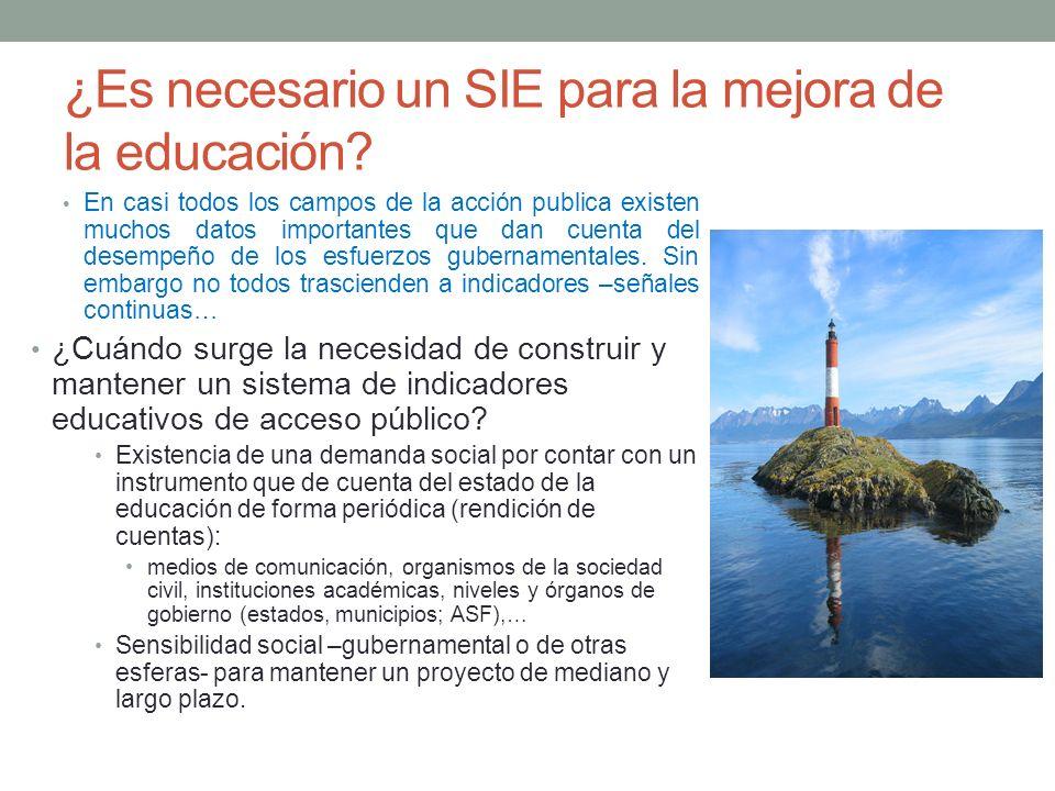 ¿Es necesario un SIE para la mejora de la educación