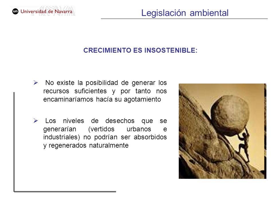 CRECIMIENTO ES INSOSTENIBLE: