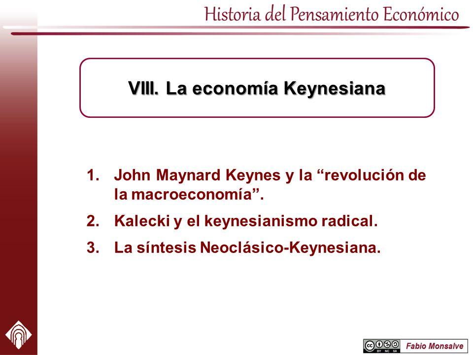 VIII. La economía Keynesiana