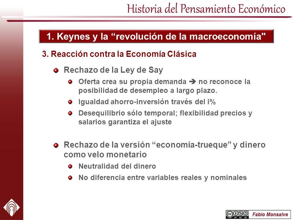 3. Reacción contra la Economía Clásica
