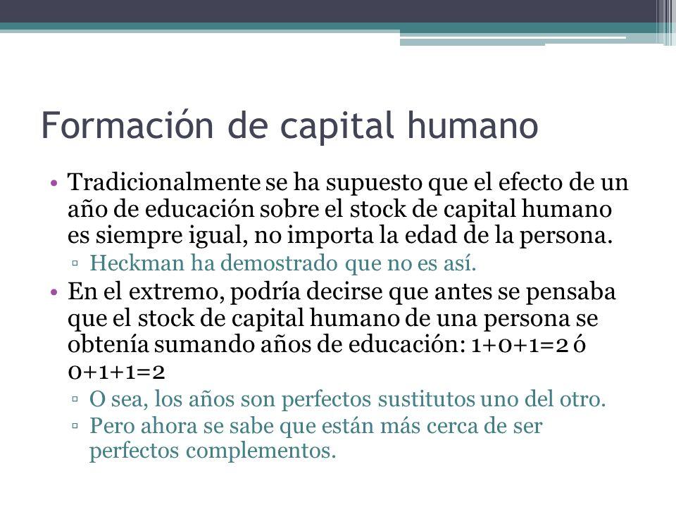 Formación de capital humano