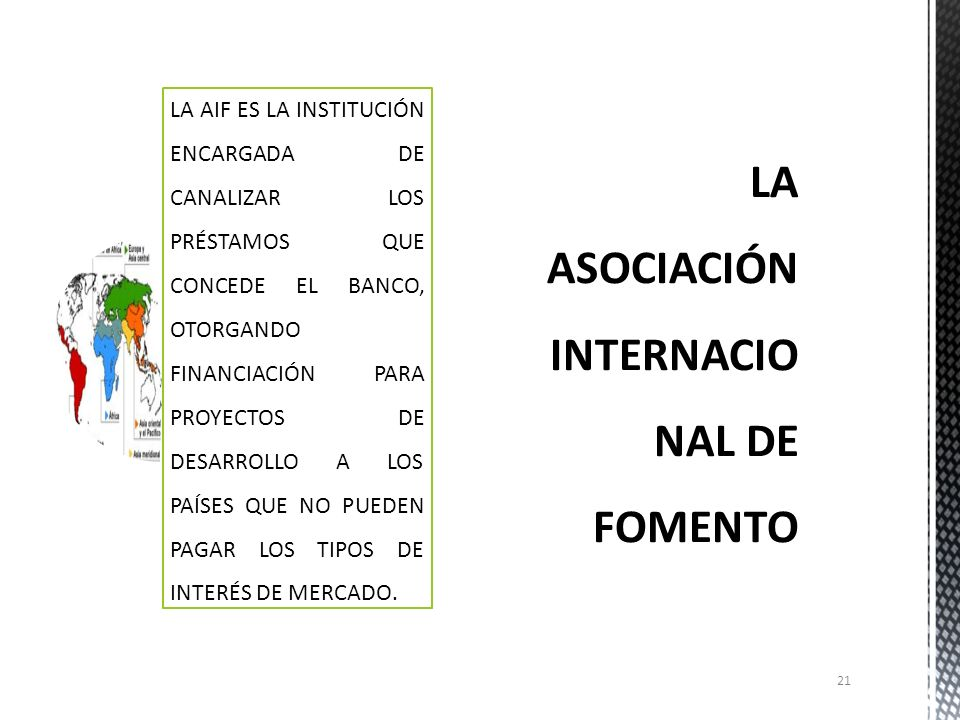 LA ASOCIACIÓN INTERNACIONAL DE FOMENTO