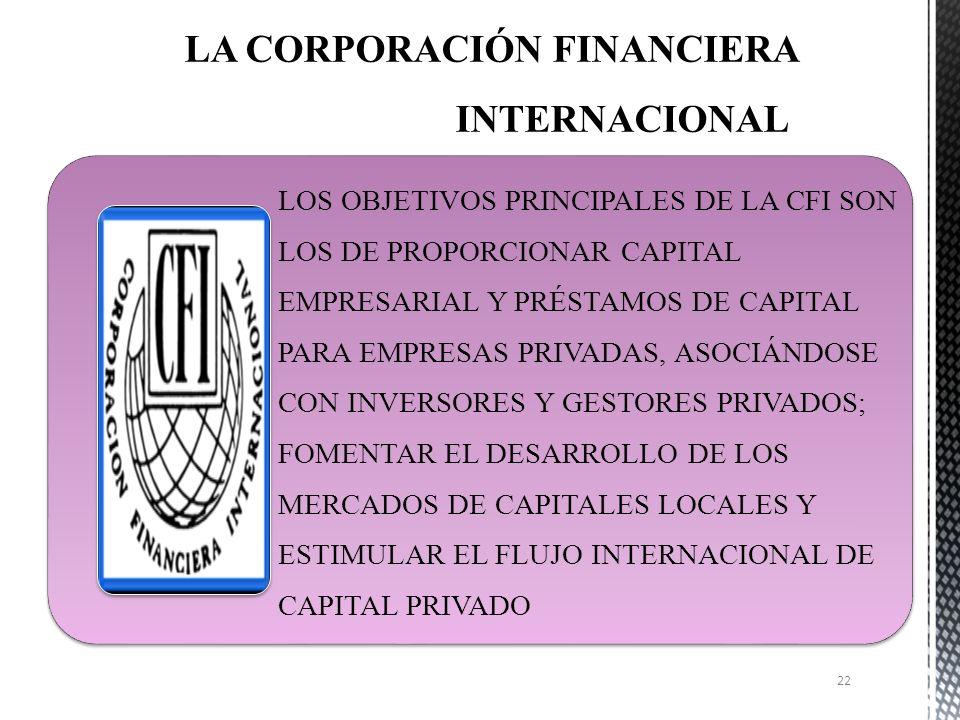 LA CORPORACIÓN FINANCIERA INTERNACIONAL