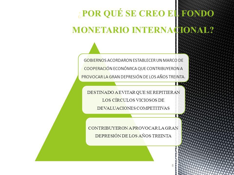 ¿POR QUÉ SE CREO EL FONDO MONETARIO INTERNACIONAL