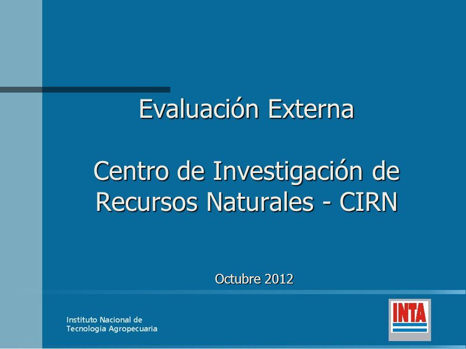 Evaluación Externa Centro de Investigación de Recursos Naturales - CIRN