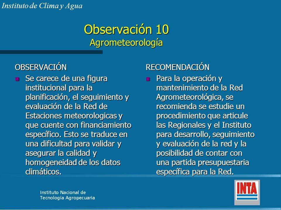 Observación 10 Agrometeorología