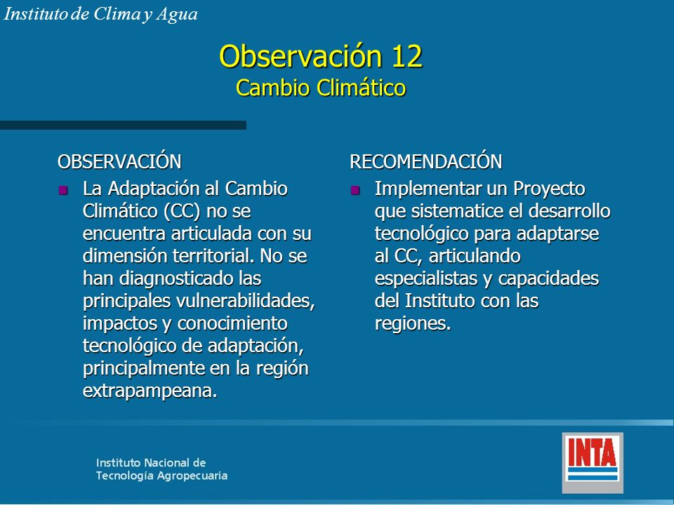 Observación 12 Cambio Climático