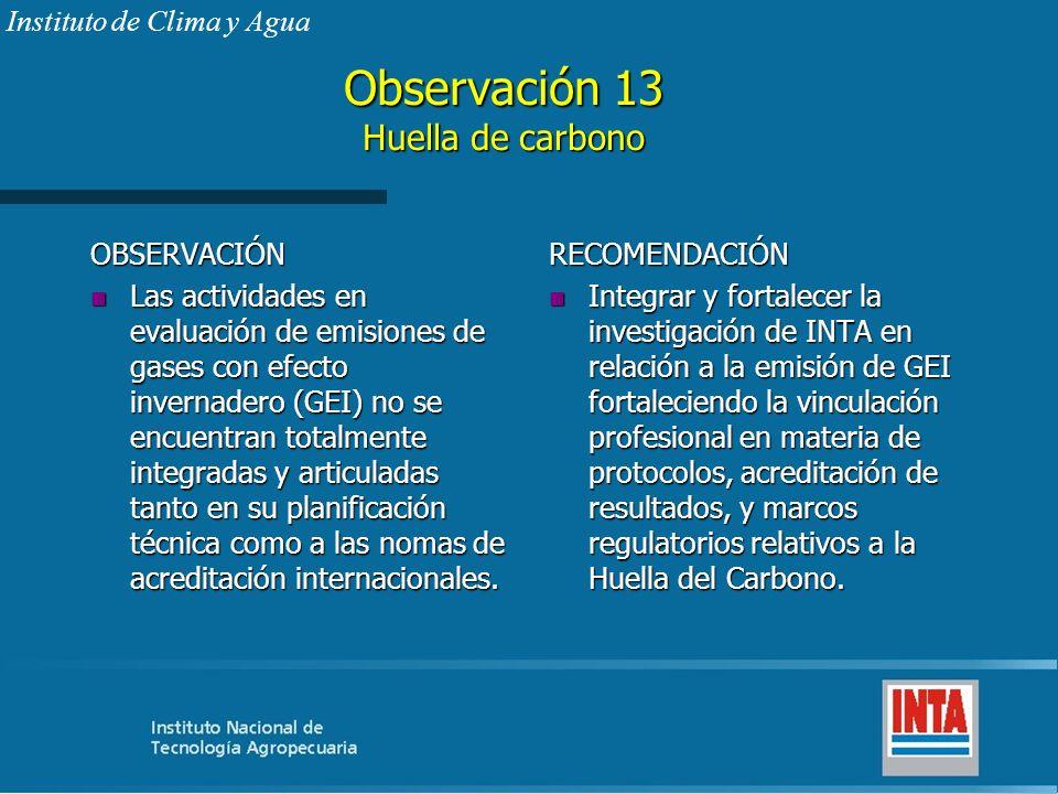 Observación 13 Huella de carbono