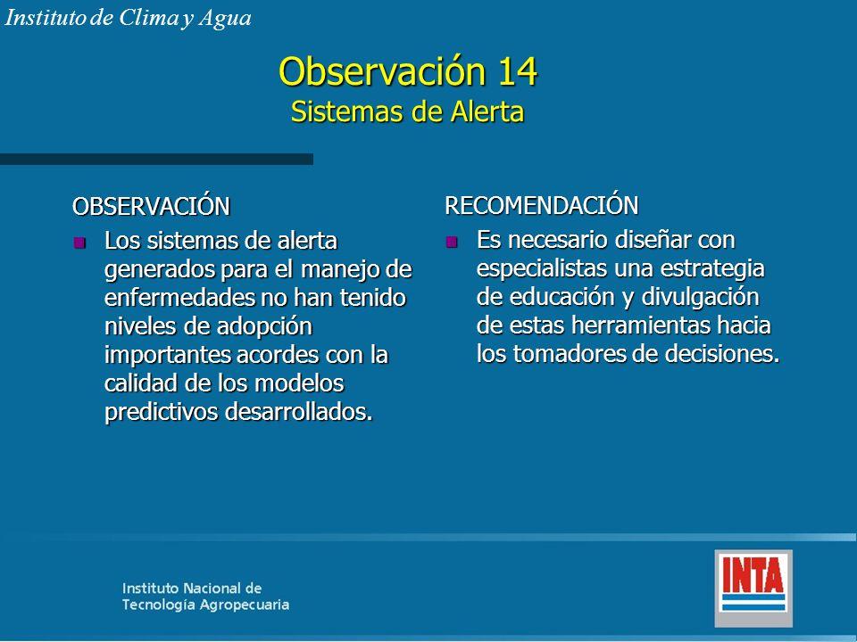 Observación 14 Sistemas de Alerta